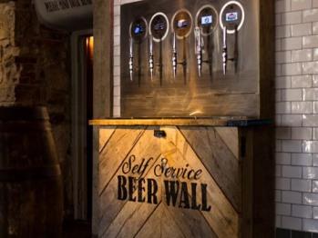 Self service beer wall