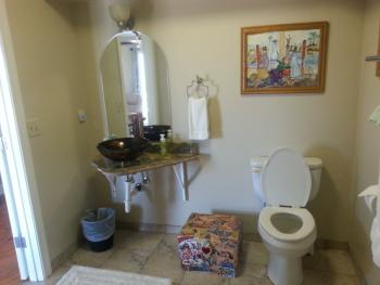 The Woods with an ADA compliant bathroom.