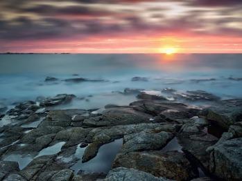 Couché de soleil sur la Baie
