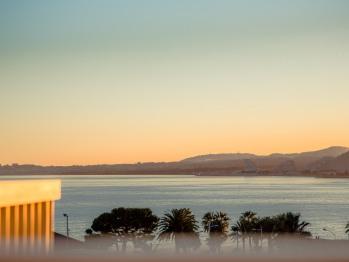 Le Lido - couché de soleil vue mer de la terrasse