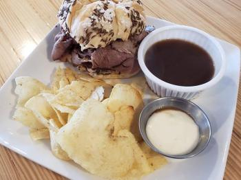 One of our popular menu options...Beef on Weck