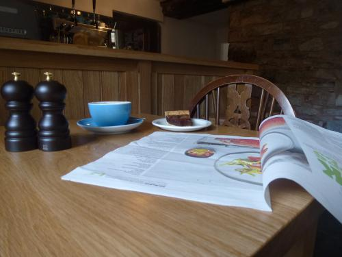 Coffee and the weekend papers