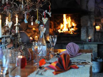 The Shack is set in the garden, with open fire and veiws across the gadren. You will love it and the food.