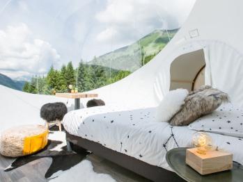 Hutte-Confort-Salle de bain Commune-Vue sur Montagne-Des Bulles