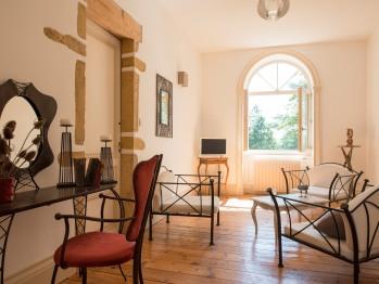 Petit salon à l'étage des chambres