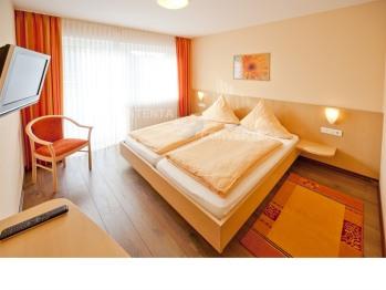 Doppelbett oder zwei Einzelbetten-Ensuite Dusche-Balkon