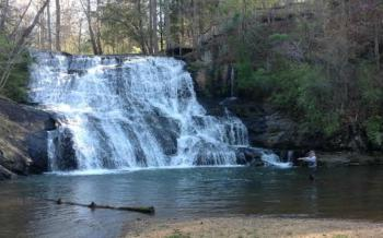 Waterfall Cottage is within sight and sound of Cane Creek Falls