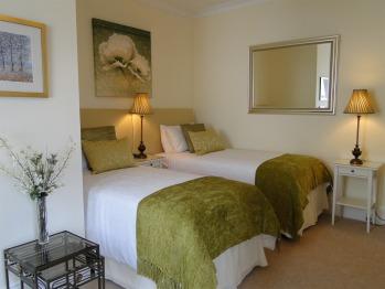 First floor Superking Room (sleeps 3) set up as luxury Twin