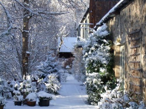 Terrace in snow