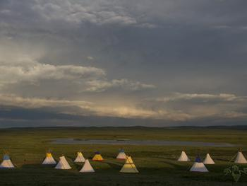 Tipi-camp in June