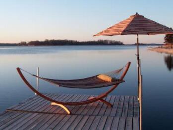 relaxing island hammock