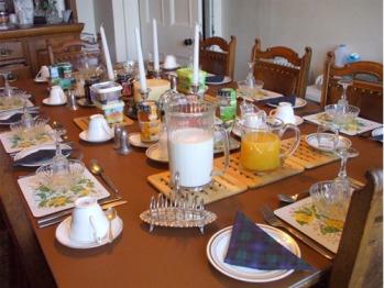 Breakfast table set for eight, Carlton Seamill