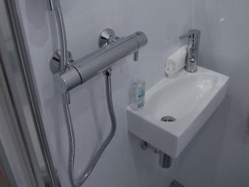 The Wetroom has a shower, toilet and sink and all toiletires and towels are provided.