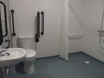 Ground floor disabled toilet & wet room