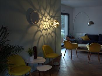 Espace cuisine/salon à disposition exclusive des hôtes