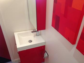 Le Lodge Rouge (Salle de bains)