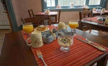 Representational view of one of the typical Breakfasts served at The Tuckernuck Inn B&B.