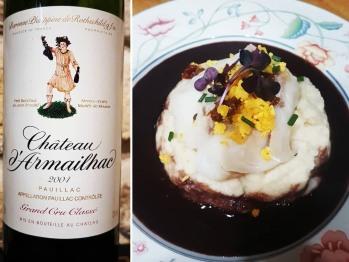 Accord met-vin : dos de cabillaud en sauce au vin du Médoc et purée de céleri rave