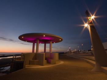 Cleveleys Promenade by night.