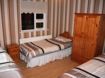 Bedroom  in house 1, bungalow house, sleeps 7 people