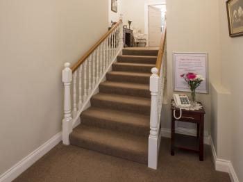 Stairs to classic rooms and rooms 7 & 8