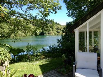 Summer house and lake view