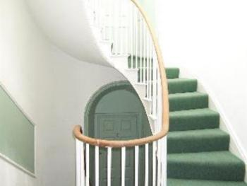 Grade II listed stairs to the apartment