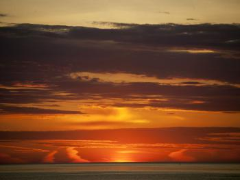 Sun Rise Over The Ocean Seen At The Inn