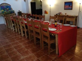 Group celebration dinner