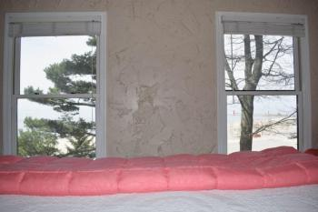 Sand Room view from bed of Lake Michigan