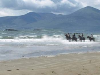 Riding on our Private Beach
