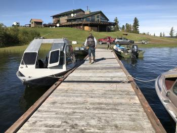 Dock on Lake Louise