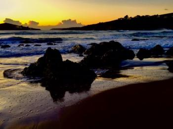Bantham Beach at sunset