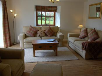 lounge in The Granary Cottage