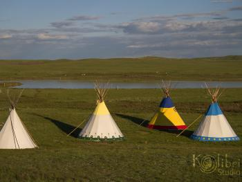 Tipi-Camp in spring