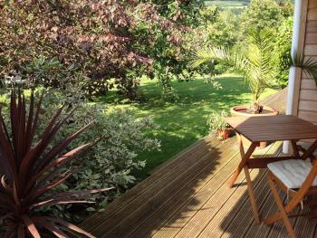 Apartment Decking with Mendip View