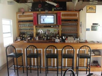 The bar within the dining room