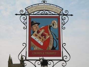 Crown and Trumpet Inn Sign