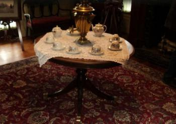 Tea Service in Museum room