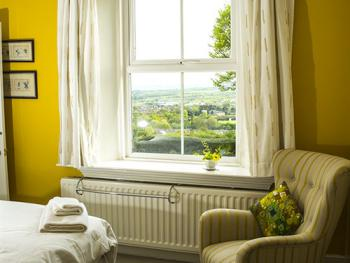 Great views from the Green room at Dowfold House Luxury Bed and Breakfast