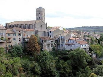 Village of Montolieu from Alzeau bridge