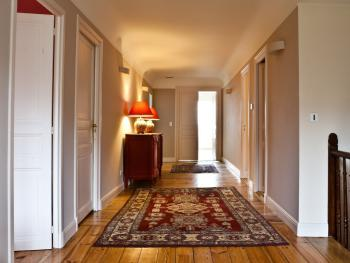 The corridor leading to the guest bedrooms