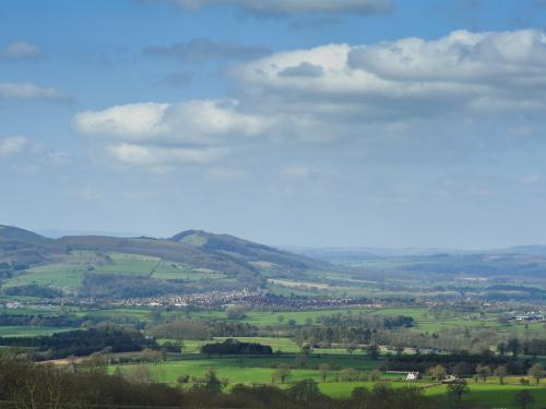 Outstanding views over south Shropshire and Wales from all guest rooms