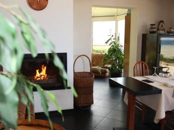 le restaurant et la cheminée