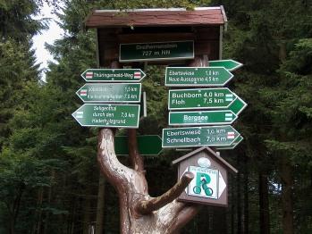 Die Wanderwege und Radwege sind in Thüringen sehr gut ausgeschildert