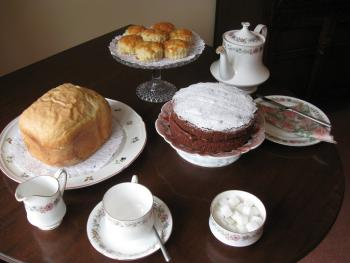 Home-made bread, marmalade and jam plus many other goodies in your store cupboard