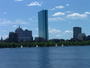 View to Boston Across the Charles River