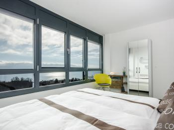 Chambre Double Confort, no 2, avec vue sur le lac et les montagnes