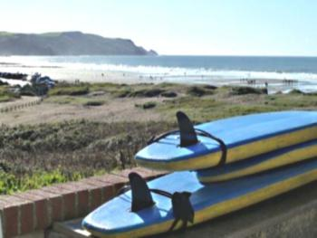 Surf shop/hire also on site here from the house (seasonal)