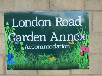New Garden Annex signage